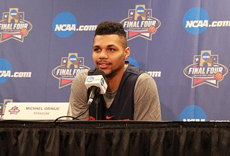 Michael Gbinije at the Syracuse Press Conference