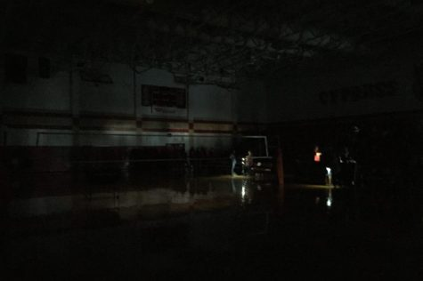 The black out struck just moments before Cy Woods was supposed to start their volleyball game against Cy Creek.