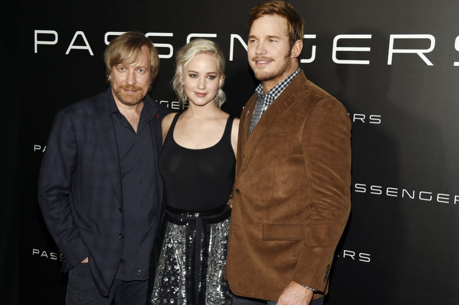Jennifer+Lawrence%2C+Chris+Pratt+and+Director+Morten+Tyldum+at+CinemaCon+2016+promoting+Passengers.+Credit%3A+Jennifer+Lawrence+Films