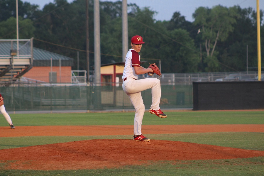 Pitcher Connor Elliot Recorded eight strike outs friday night against Cy Falls and did not allow a single run as the Wildcats went on to win 7-0.