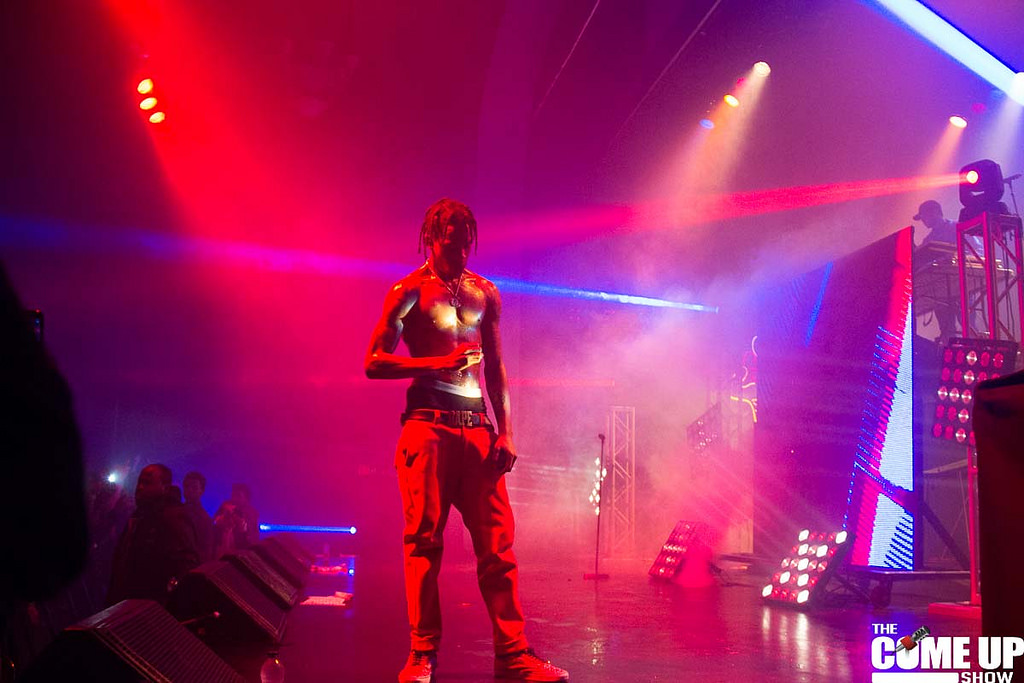 Travis Scott performing in Toronto on the Rodeo tour
