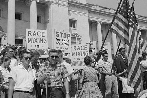 Little Rock integration protest.