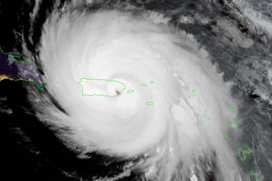Satellite image of Hurricane Maria