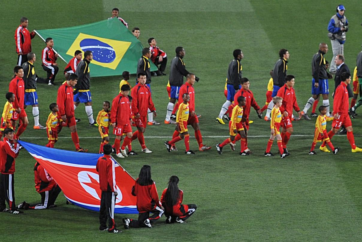 Two teams from the 2010 FIFA World Cup.