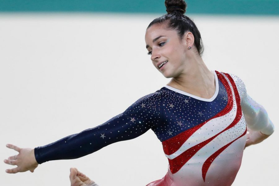 Gymnast Aly Raisman performs at the 2016 Rio Olympics. Raisman was one of the 150 women who testified against Nassar.