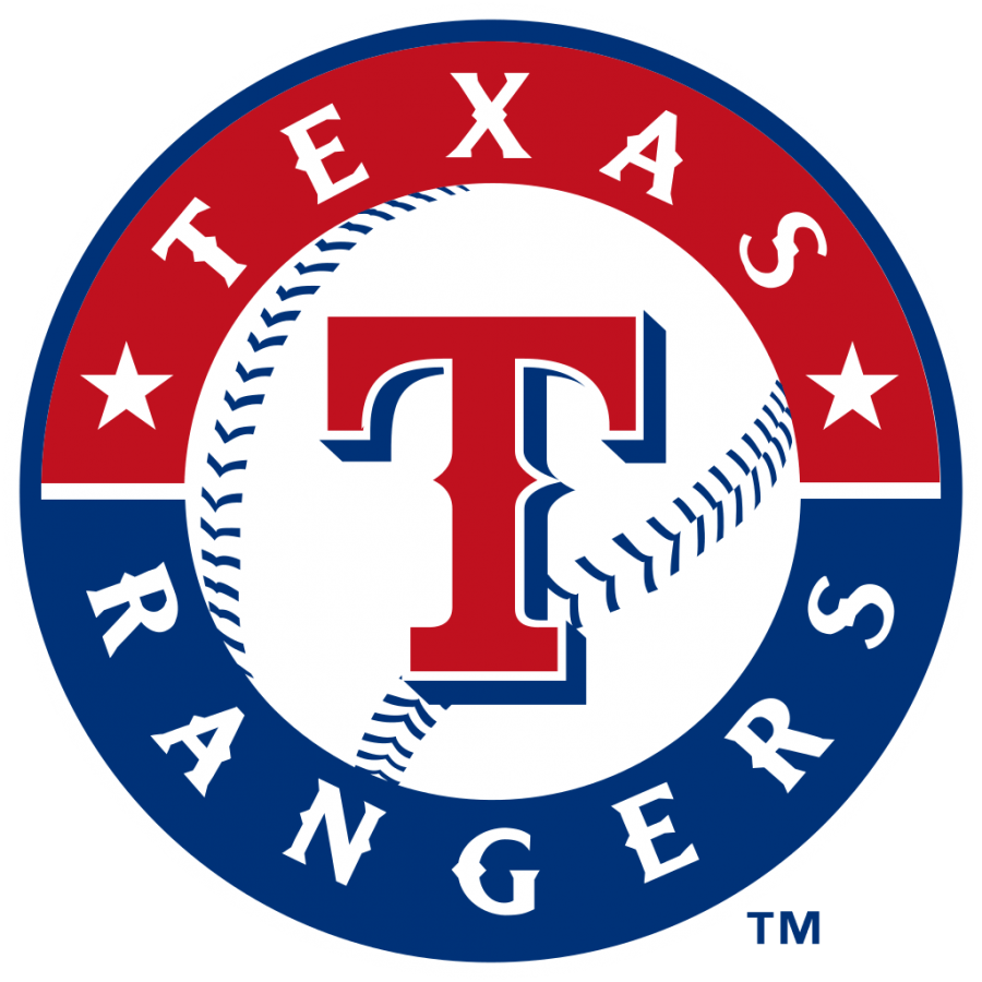 The+logo+for+the+Texas+Rangers+in+Arlinton%2C+Texas%2C+a+suburb+of+the+Fort+Worth-Dallas+area.