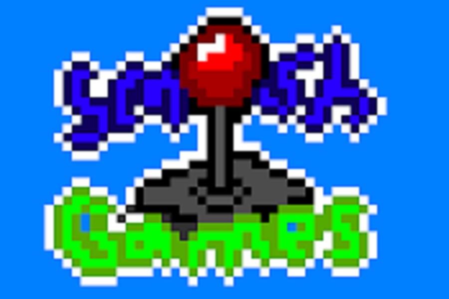 A pixel art version of the Smosh Games logo