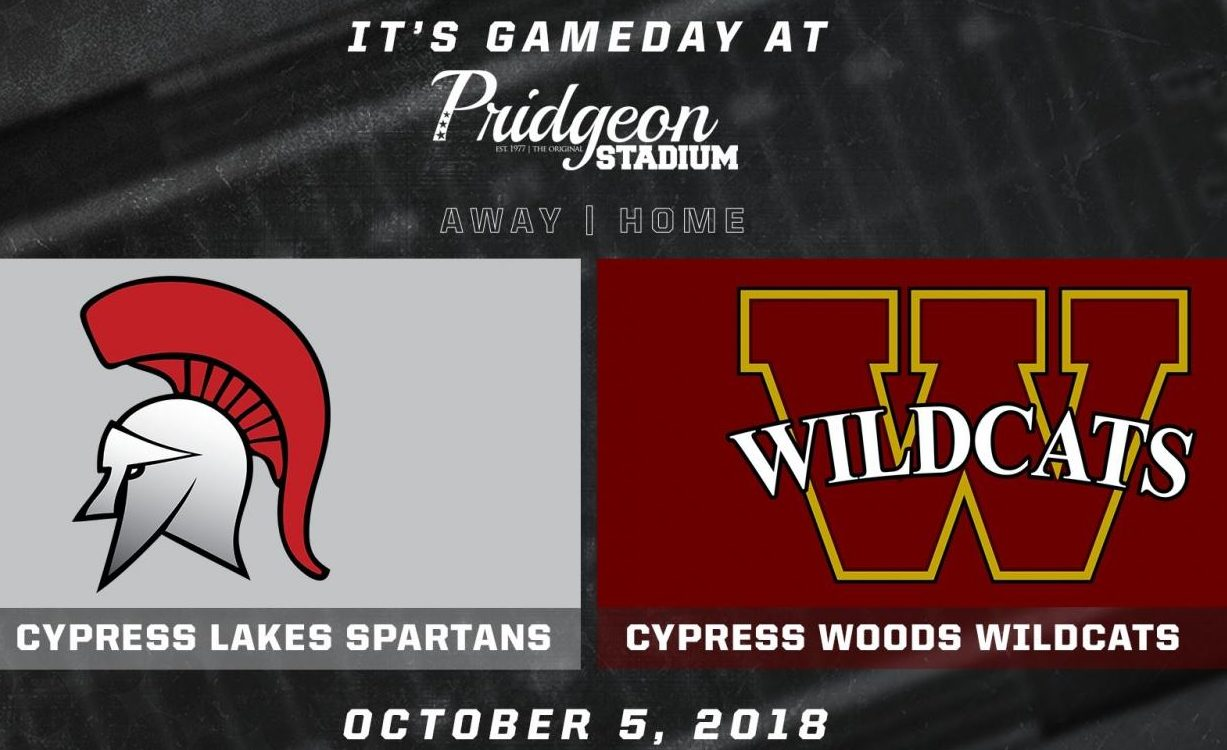 Cy Woods vs Cy Lakes football game information
