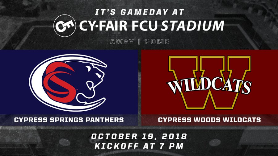 Cy Woods vs Cy Springs game information.