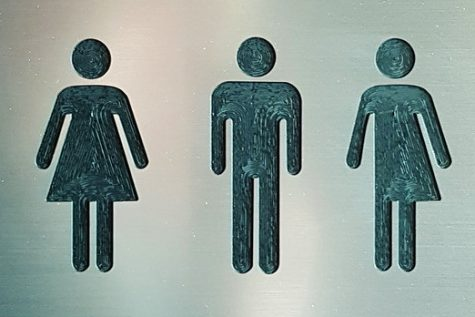 A label for a public transgender bathroom facility