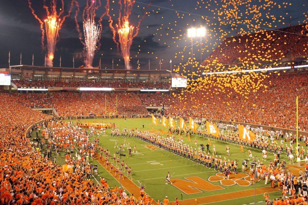 Clemson Tigers celebrating