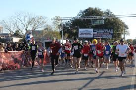 A photo of runners in a half marathon
