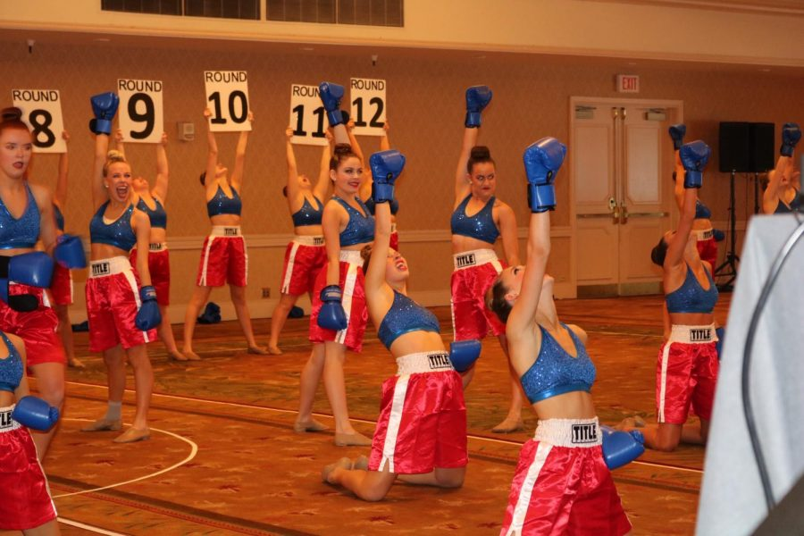 The Cadettes performing their novelty dance at Nationals.