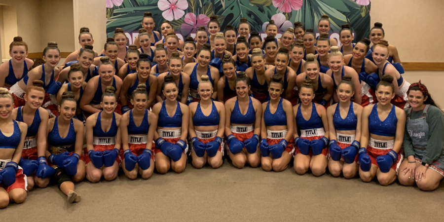 The Cypress Woods Crimson Cadettes preforming in Hawaii.