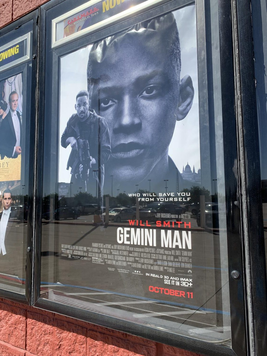 The poster for Gemini Man, in theaters everywhere.