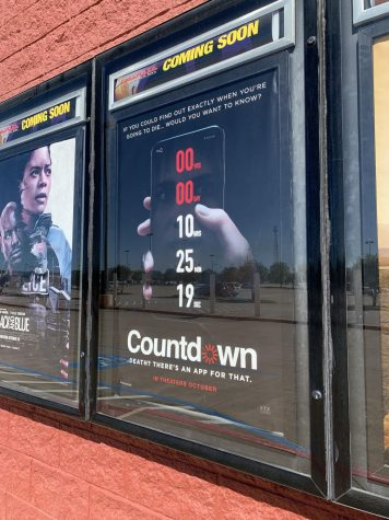 A poster of the movie Countdown, now in theaters.