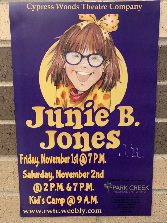 One of the many Junie B. Jones Jr. posters around the school.