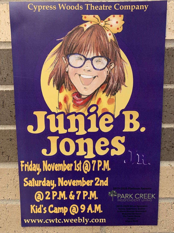 One of the many Junie B. Jones Jr. posters around the school.