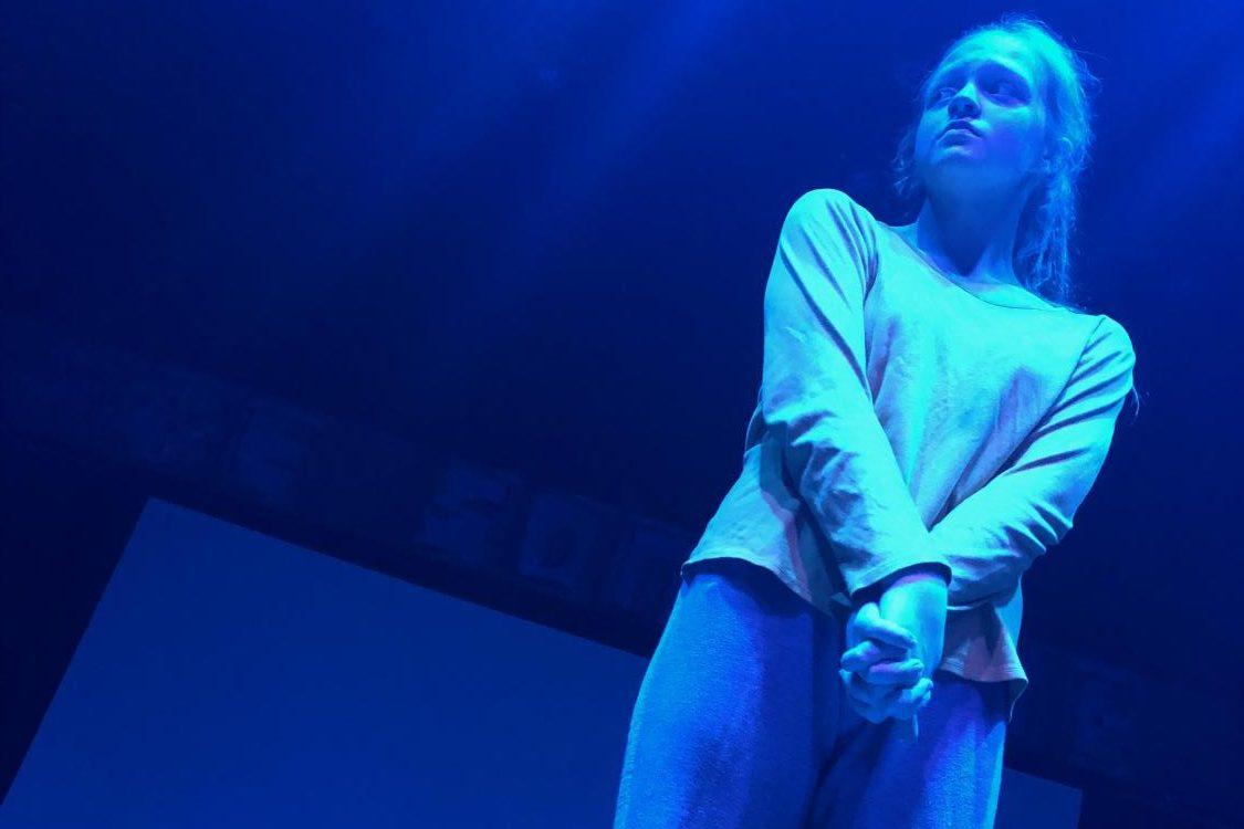 Freshman Erin Doyle as Maya in Godspell at Imaginnation Theatre in 2018.