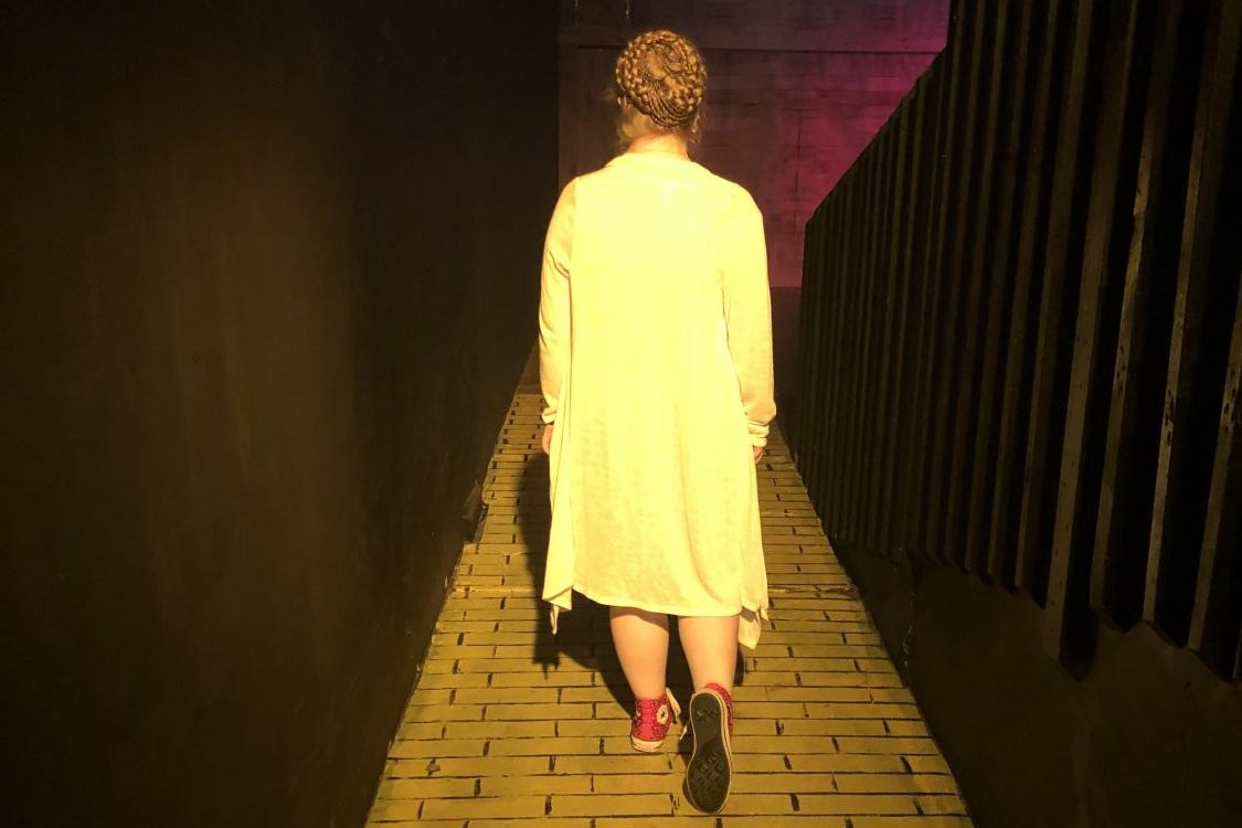 Senior and online editor MackenseyD following the yellow brick road into Art Factory to see The