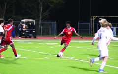 The Cy Woods Junior Varsity Soccer team playing against Bridgeland High School