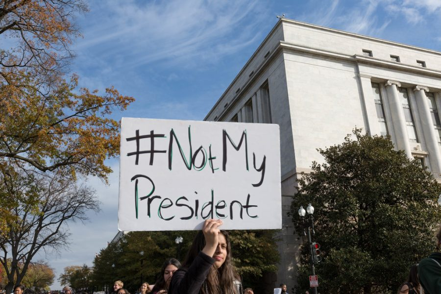 DCPS Walkout, Independence Ave, Not My President by Lorie Shaull is licensed under CC BY-SA 2.0