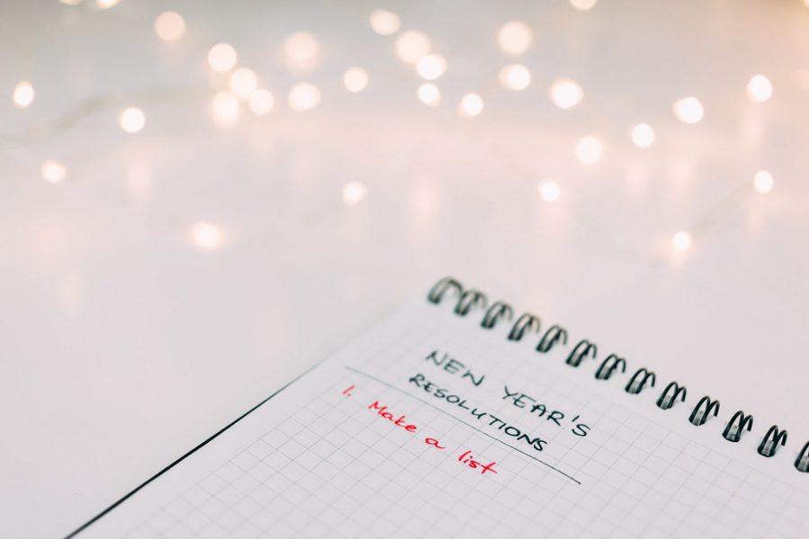 New year's resolution list.